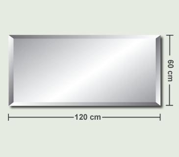 Hervorragend Rahmenloser Kristallspiegel Wandspiegel Badspiegel Spiegel 60x120  XY32