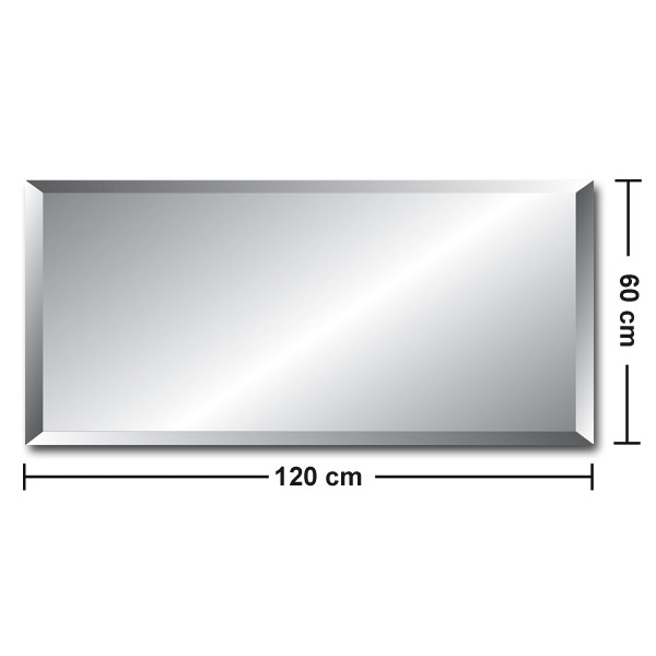 frameless crystal mirror wall mirror bathroom mirror mirror 60x120 18mm facet ebay. Black Bedroom Furniture Sets. Home Design Ideas