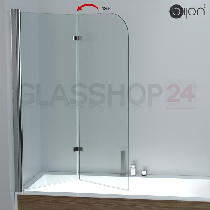 ... Badewannenaufsatz Faltwand Glas Duschwand Badewanne  eBay