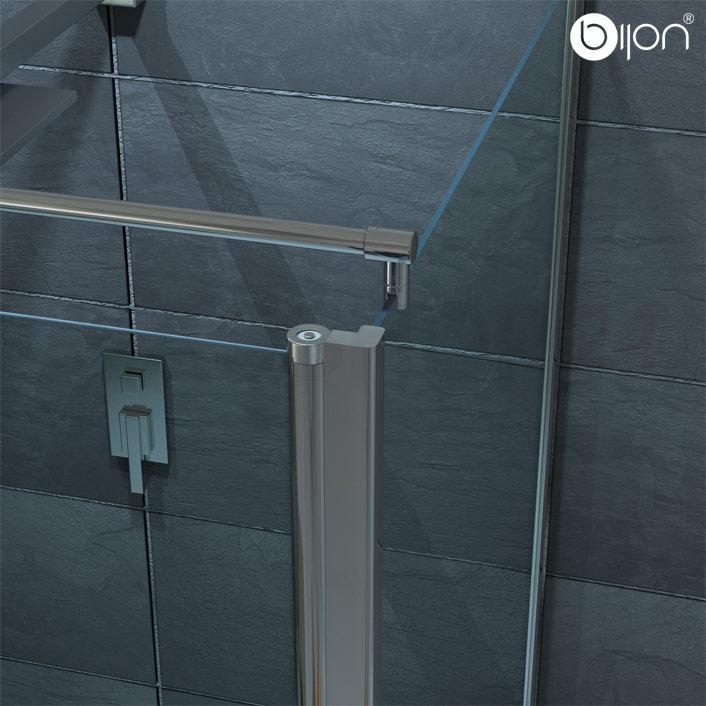 Nischent?r Dusche Verstellbar : Pendelt?r + Seitenwand 70-120cm Duschabtrennung Dusche eBay