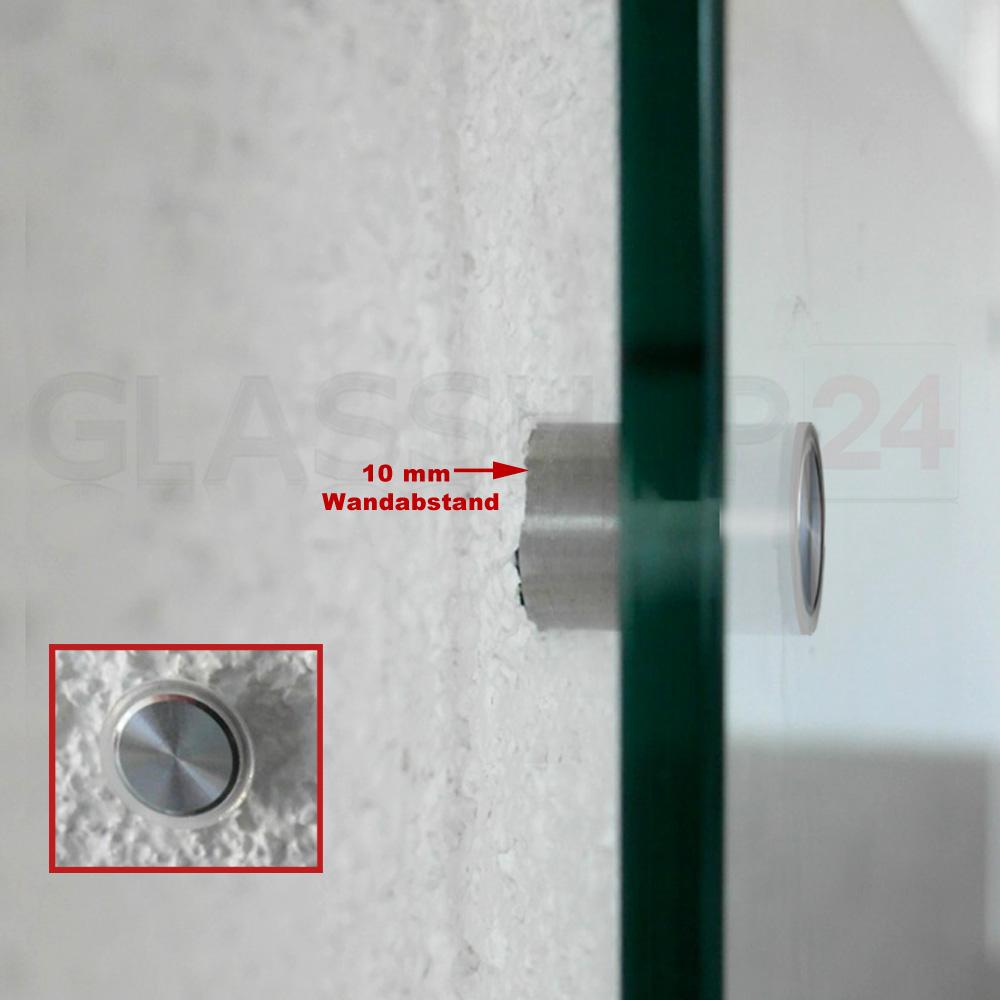 Edelstahl Befestigung Set Glas Küchenrückwand Fliesenspiegel ...