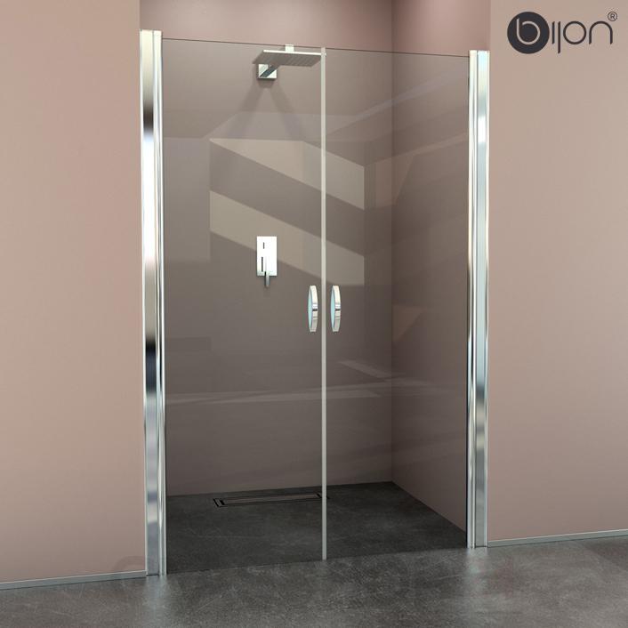 Nischendusche Glast?r : Design Duschabtrennung mit Lotuseffekt Duscht?r Nischent?r Dusche