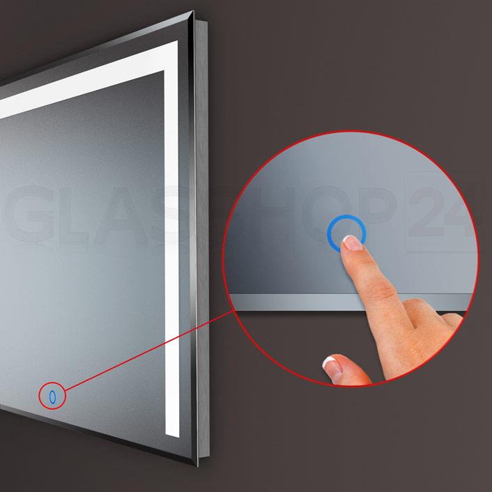 LED-Spiegel mit Touchsensor in verschiedenen Größen