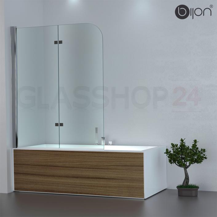 Badewannen Duschabtrennung Badewannenaufsatz Faltwand Glas Duschwand