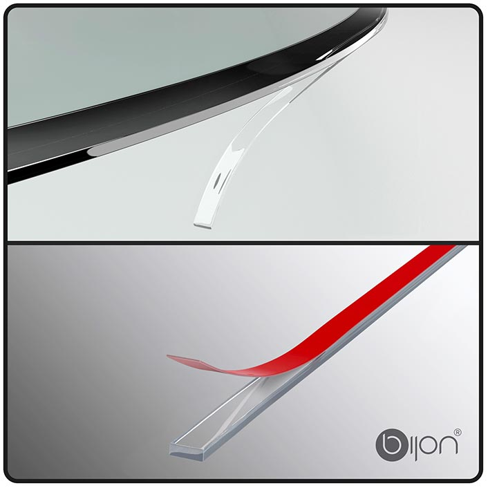 Produktfoto: Silikon-Dichtlippe für Glasbodenplatten - beidseitig klebend