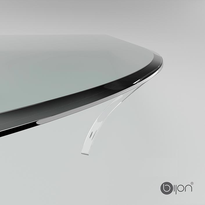 Produktfoto: Beidseitig klebende Silikon-Dichtlippe für Glasbodenplatten