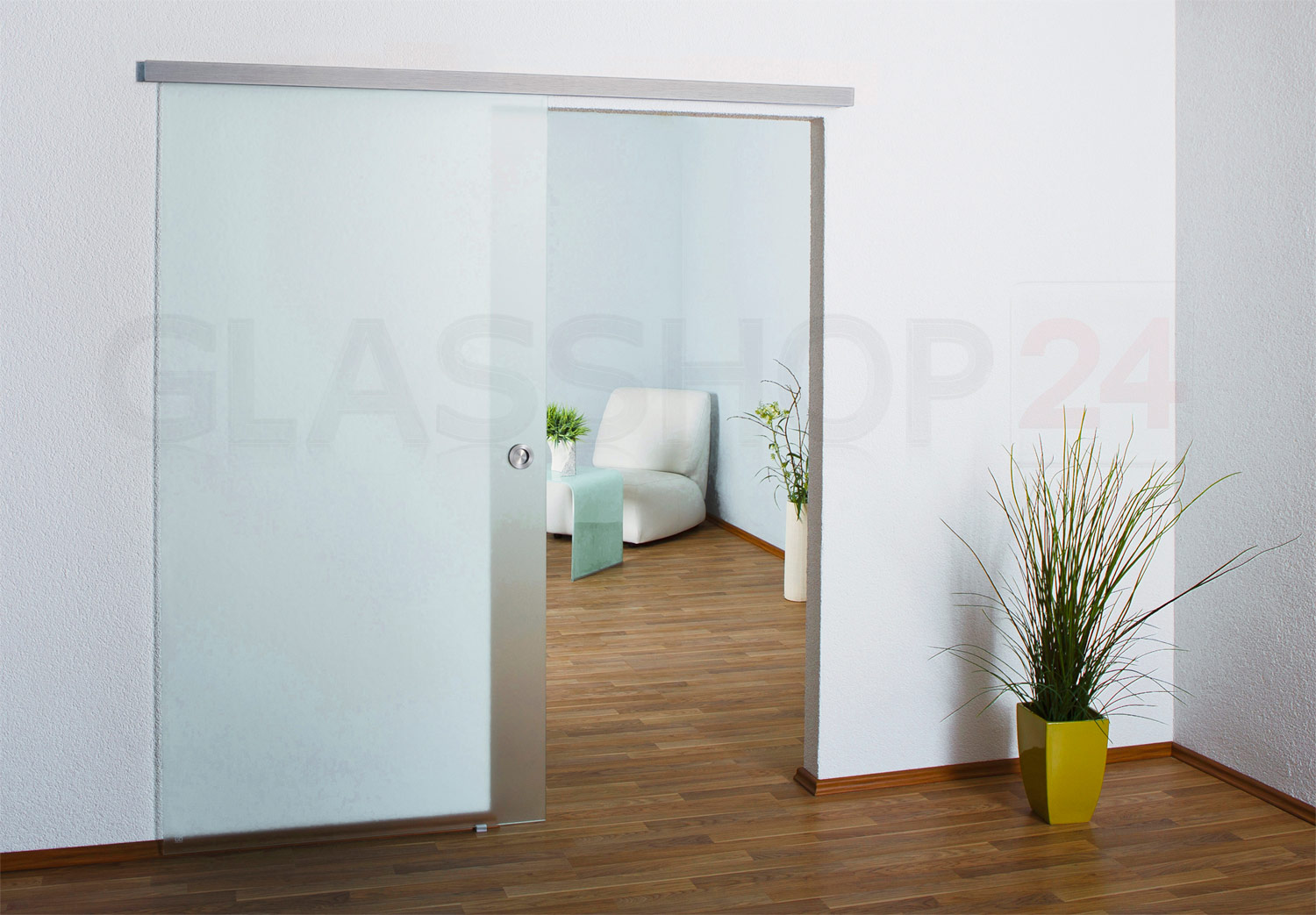 glasschiebet r glast r glas t r ganzglas schiebet r satiniert oder klarglas ebay. Black Bedroom Furniture Sets. Home Design Ideas