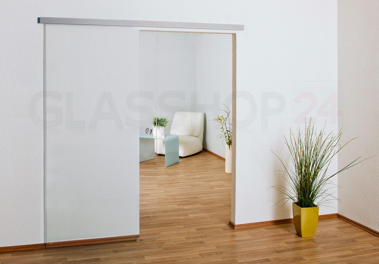 Glasschiebetür Glastür Glas Tür Ganzglas Schiebetür| satiniert oder ...