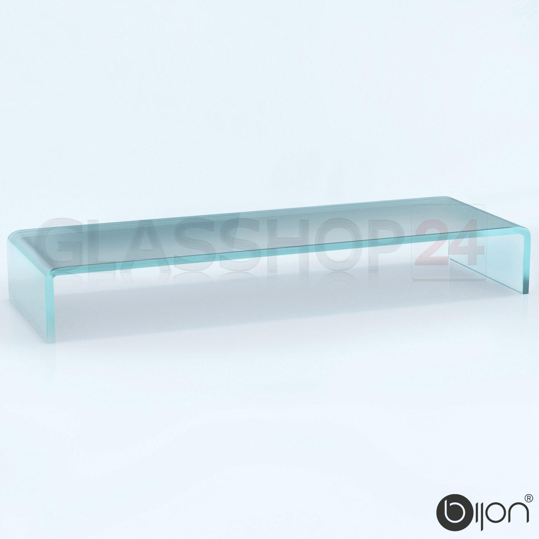 tv glasaufsatz glas tisch tv aufsatz monitor erh hung lcd glasb hne podest ebay. Black Bedroom Furniture Sets. Home Design Ideas