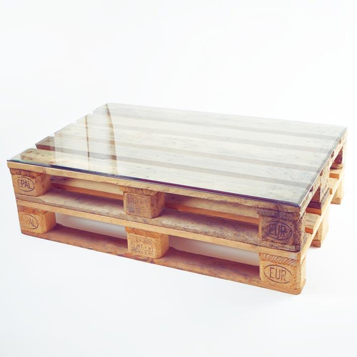 Tischplatte Rechteck für Europalette