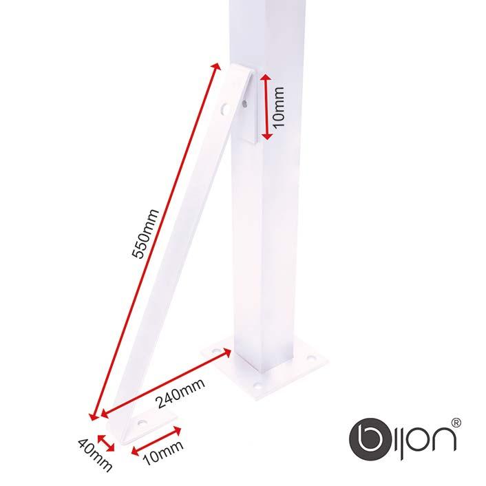 Windanker / Sturmanker für bijon Glaszaun / Sichtschutz