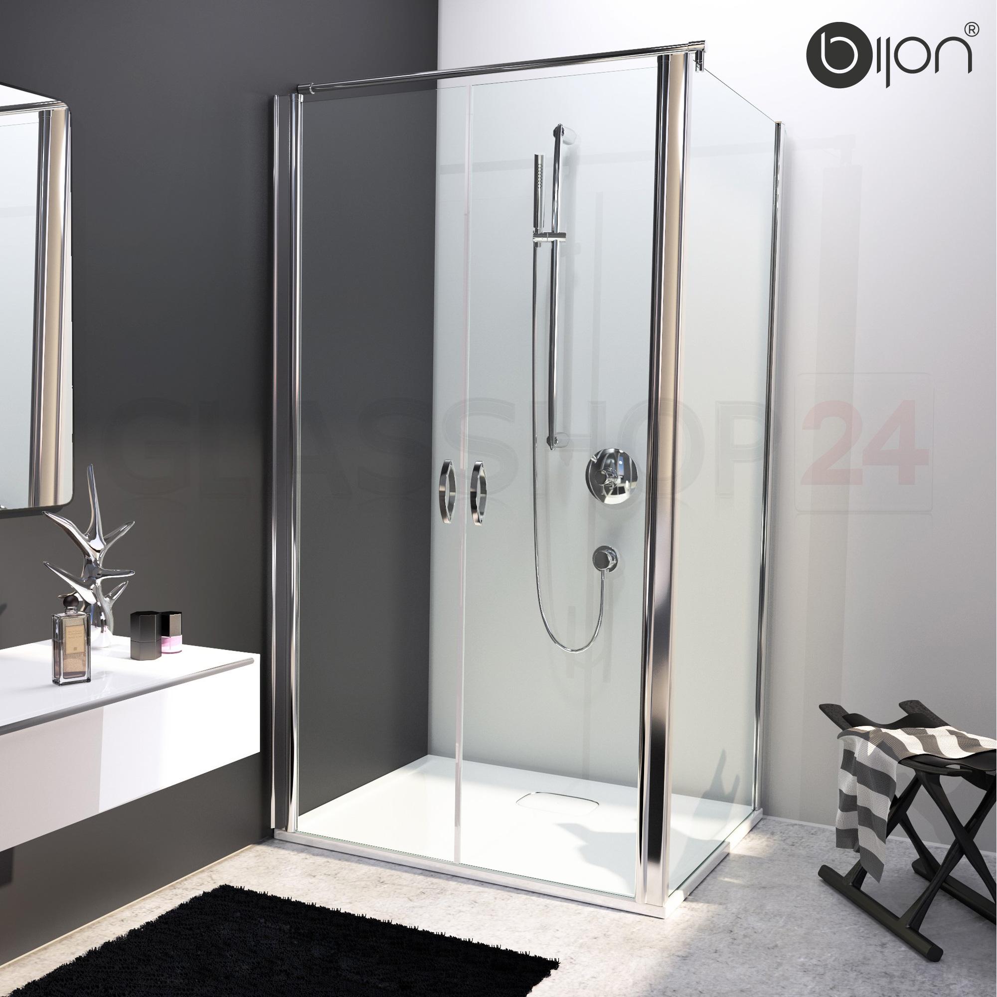 glas eckdusche nischentr pendeltr seitenwand 70 120cm duschabtrennung dusche ebay - Dusche Nischentur 85 Cm