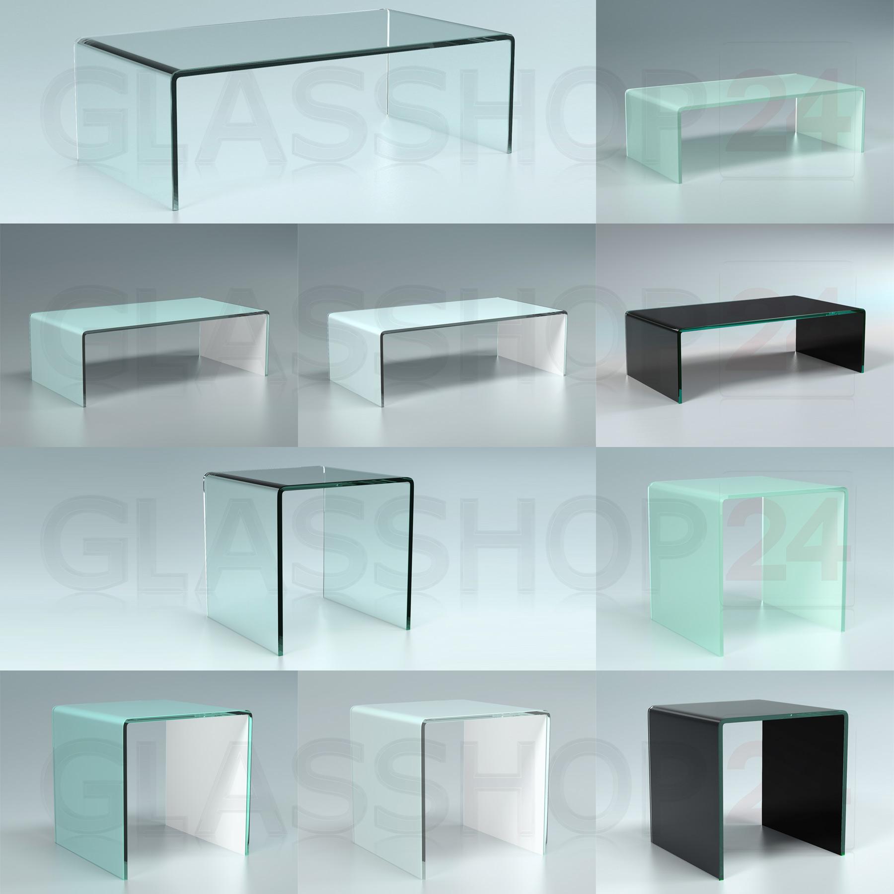 Designer Couchtisch Glastisch