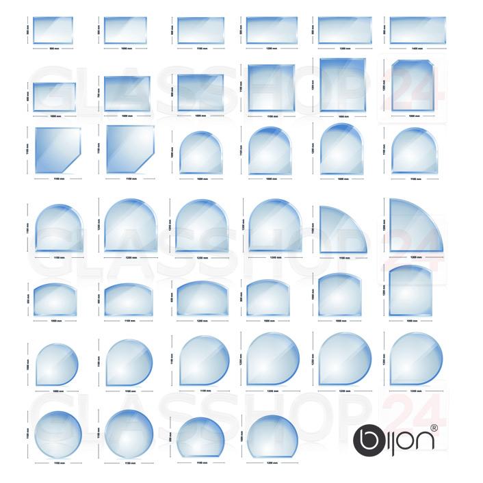 Glasbodenplatten