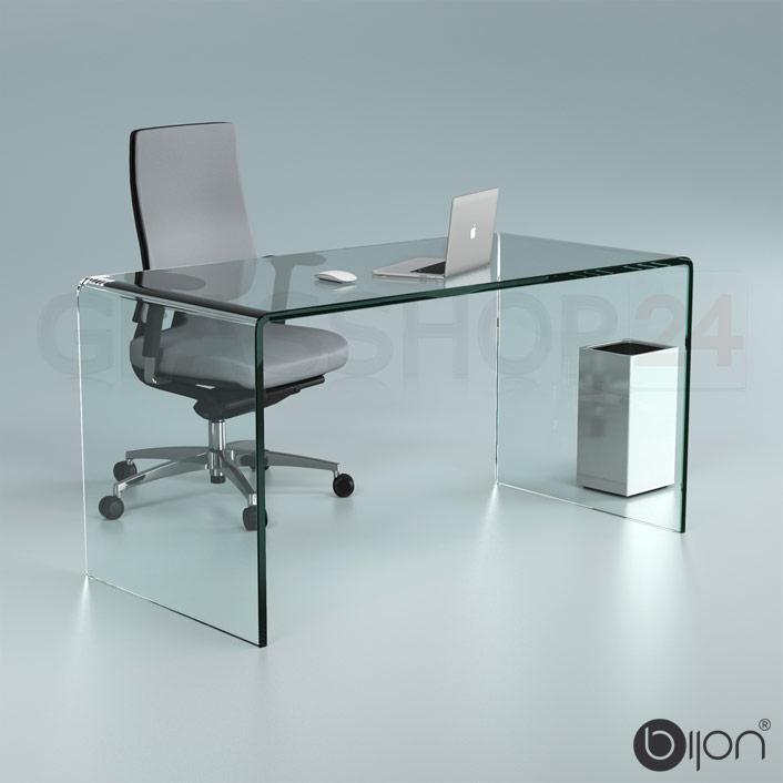 Schreibtisch Glas Chrom 2021