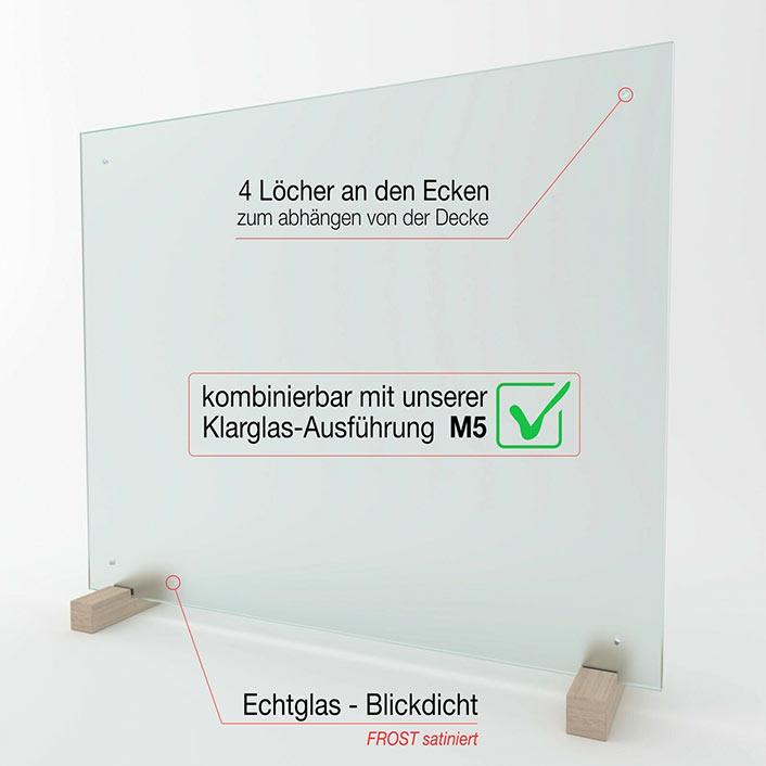 Spuckschutz aus Spezial-Sicherheitsglas