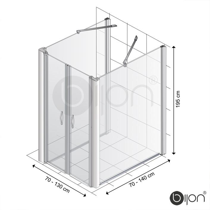 Produktfoto: U-Dusche Masse Seitenwand