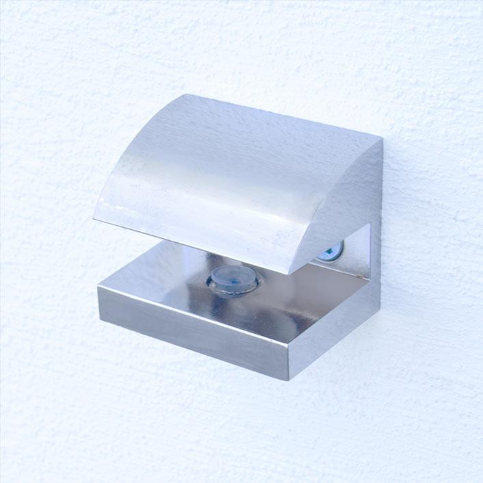 Produktfoto der Halterung, Farbvariante 1: Chrom glänzend