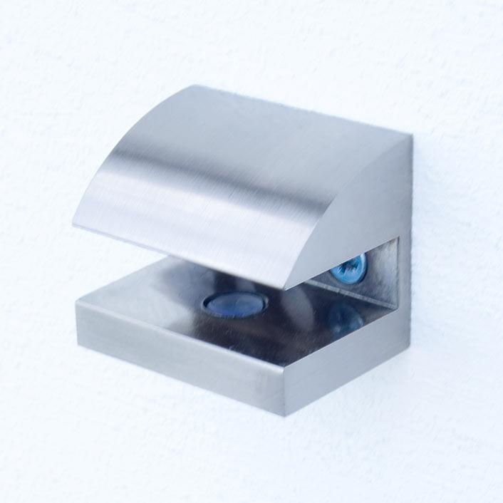 Produktfoto: Halterung B - Edelstahl optik (gebürstet)
