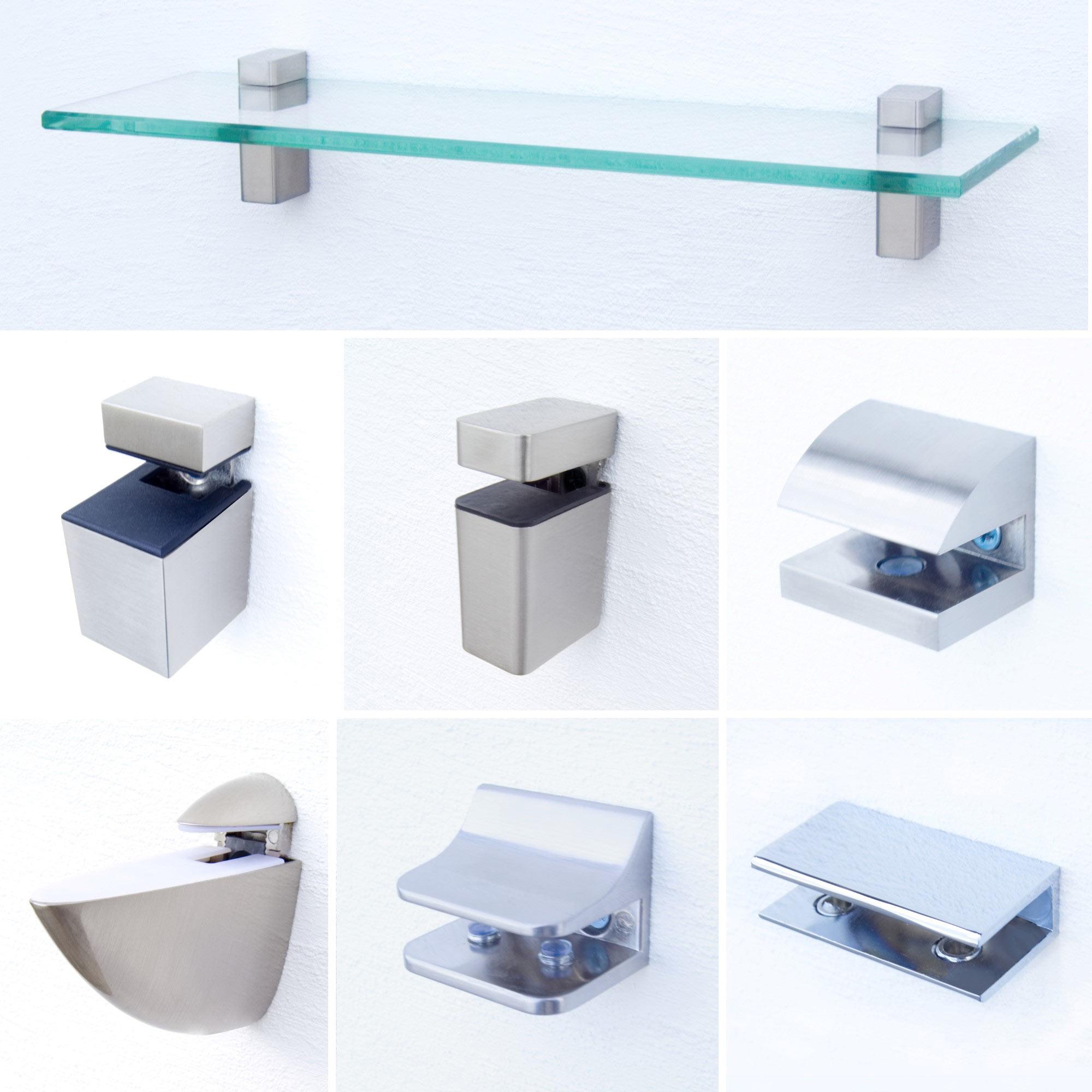Befestigungsset für Glasregale - Verschiedene Modelle
